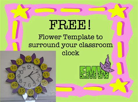 flower clock template telling time flower clock template