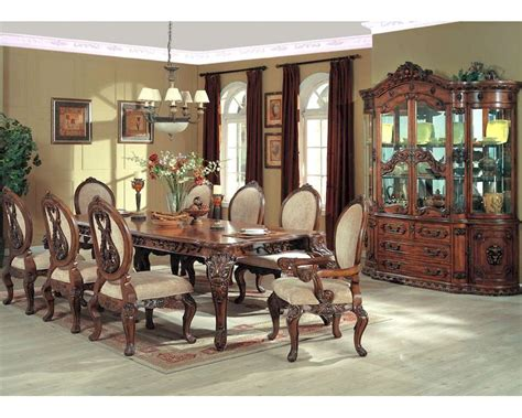 9pc dining room set 9pc formal dining set in cherry mcfrd0017
