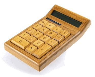 Solar Calculator Kalkulator Menggunakan Cahaya Matahari kalkulator bambu dengan tenaga matahari