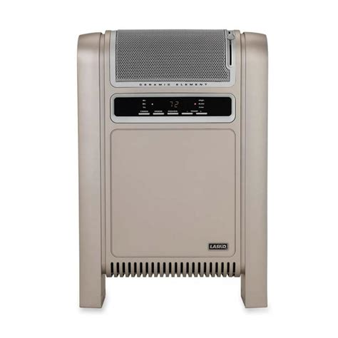 electrical cabinet heater with thermostat shop lasko 1500 watt ceramic cabinet electric space heater