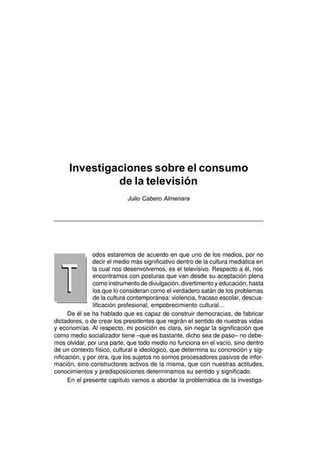 (PDF) Investigaciones sobre el consumo de la televisión