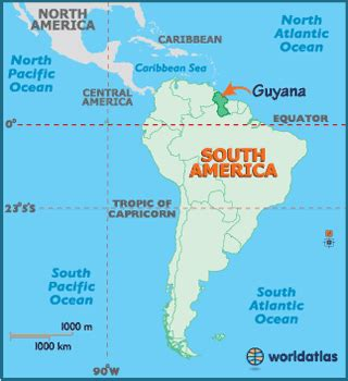 where is guyana on the world map guyana map geography of guyana map of guyana