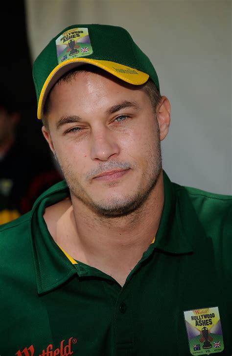 actor cricket game travis fimmel photos photos hollywood ashes cricket