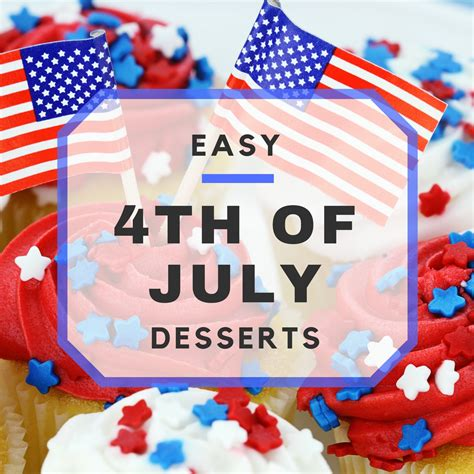 easy 4th of july desserts