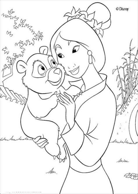 princess coloring pages mulan princess mulan holding a baby panda coloring page disney