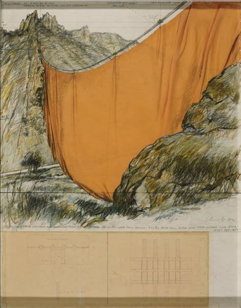 christo and jeanne claude valley curtain valley curtain project for colorado rifle grand