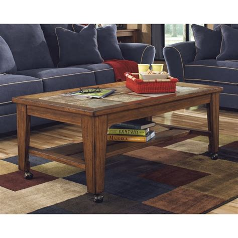 toscana coffee table in rustic brown t353 0