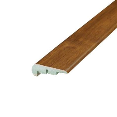 shaw multi color coordinating 3 4 in thick x 2 13 in wide x 94 in length laminate stair nose