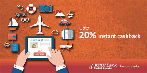 Icici Bank Gift Card - upto 20 instant cashback on domestic flights hotels with icici bank debit cards