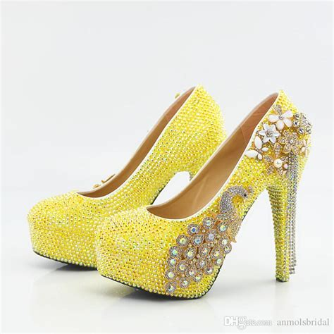 yellow flower shoes 5 8 11 14cm cinderella shoes yellow fully beaded flower