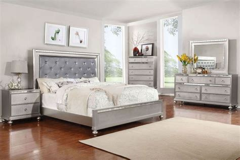 exclusive silver king size bedroom sets ideas with button saxon 5 piece queen bedroom with 32 quot led tv at gardner white