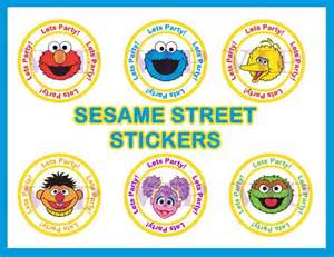 sesame street sticker labels invitations party printables