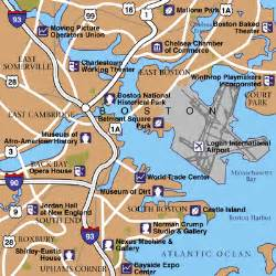 Map Of Boston Area by Boston Maps Maps To Get To And From Boston Logan Airport