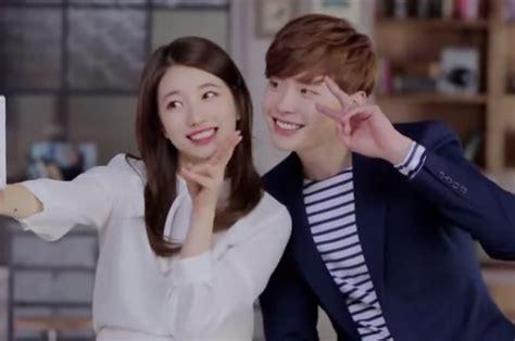 film yang dibintangi lee jong suk lee jong suk dan suzy miss a dalam satu scene iklan