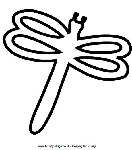 dragonfly template to print