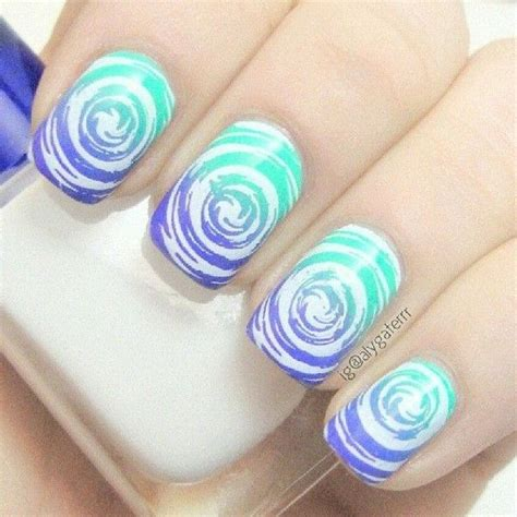 swirl pattern nail art 18 unique water marble nail designs for 2016 pretty designs