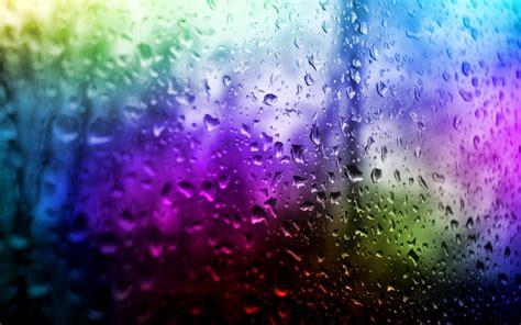 colorful rain wallpaper drops 717973 walldevil
