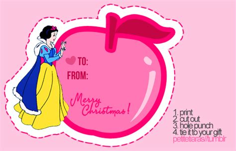 printable disney princess christmas tags for the disney princess in your family i designed a gift