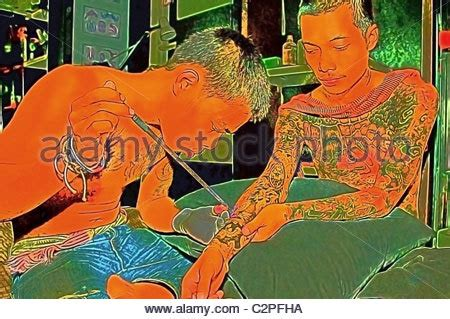 family tattoo krabi thai boys stock photo royalty free image 17585155 alamy