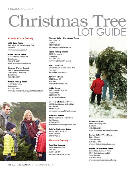 christmas tree lot guide active family magazine