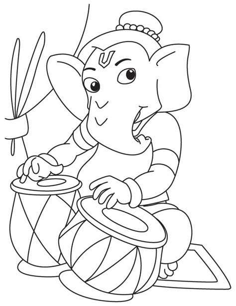 cute ganesha coloring pages lord ganesha sketches for kids www pixshark com images