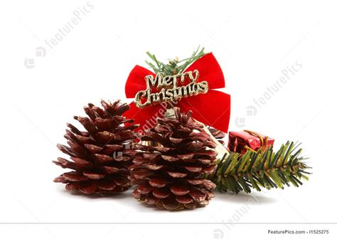 image  christmas pine cones presents