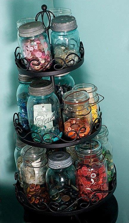 Mason Jar Craft Ideas Button