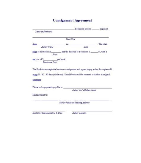 free consignment stock agreement template 40 best consignment agreement templates forms