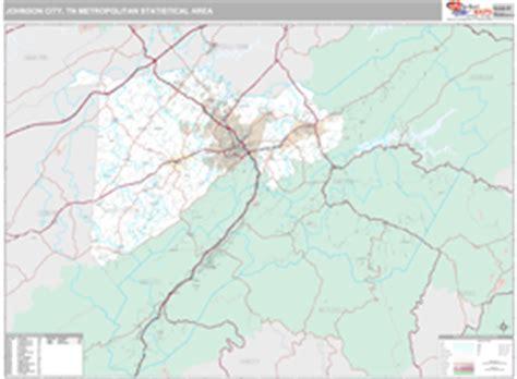 zip code map johnson city tn johnson city tn metro area wall map premium style by