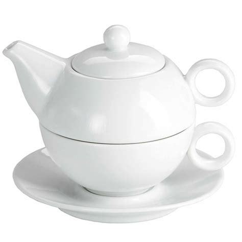 moonlight white tea for one teapot and cup set 250ml