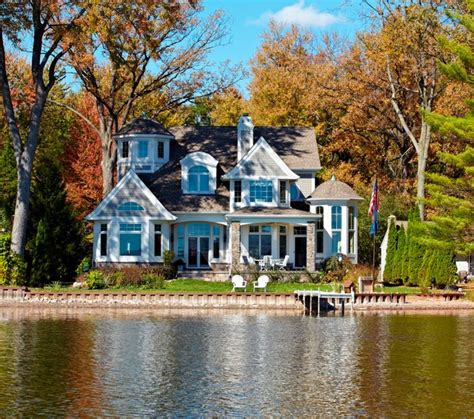 Homes Lake by Cape Cod Shingle Style Lake Home Exterior