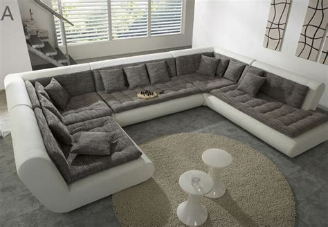 modern u shaped sectional sofa modern u shaped sectional sofa fabric leather sofa set new