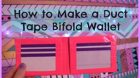 duct tape wallet instructions  cool craft ideas