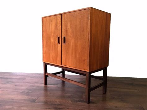 Mid Century Cupboard by Retro Teak Records Cabinet Cupboard Storage Mid Century