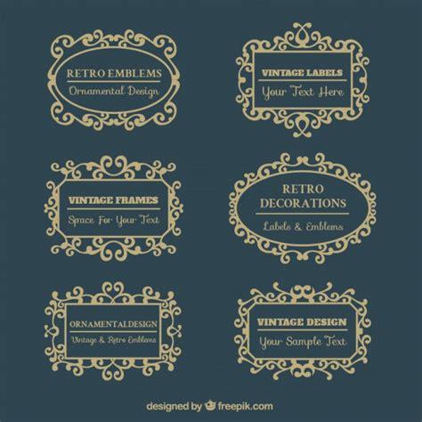 cornici d cornici d epoca in stile vittoriano scaricare vettori gratis