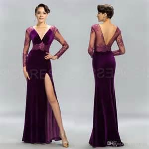 velvet evening dresses with sleeves formal dresses
