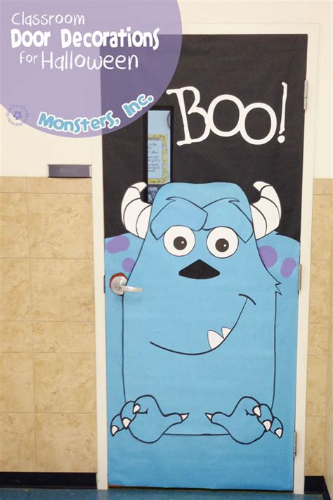 cute  fun halloween door decorating ideas