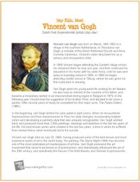 famous artist biography worksheet 1000 images about famous art and artists biographies