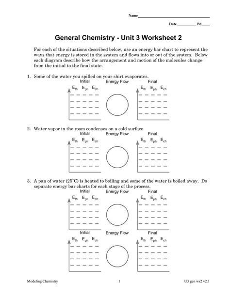 Chemistry Unit 5 Worksheet 2 Answers by Modeling Chemistry Unit 3 Worksheet 1 Answers Resultinfos