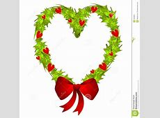 Heart Shaped Christmas Wreath Royalty Free Stock Photo ... Free Christmas Ornaments Clip Art