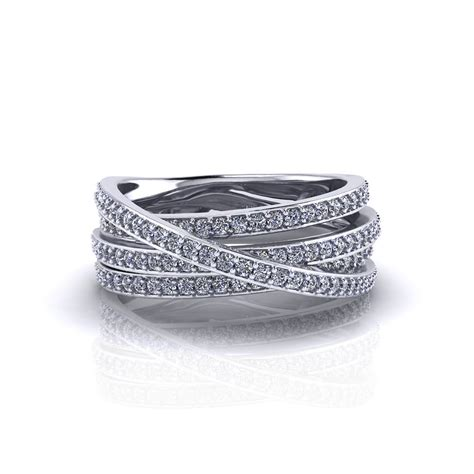crossover ring jewelry designs