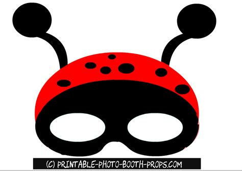 printable ladybird mask free printable spring photo booth props