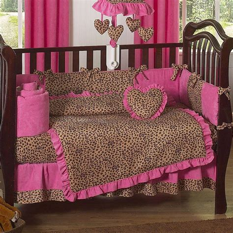 Leopard Crib Bedding Set Cheetah Crib Bedding Set Home Furniture Design