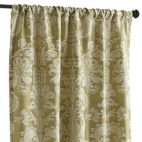 green damask curtains calibri damask curtains green pier 1 imports