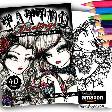 tattoo darlings an inky tattoo darlings an inky girls coloring book autographed paperback