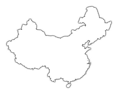 china map with cities blank outline map of china