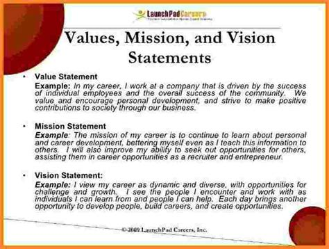 vision statement templates 10 personal vision statement template registration