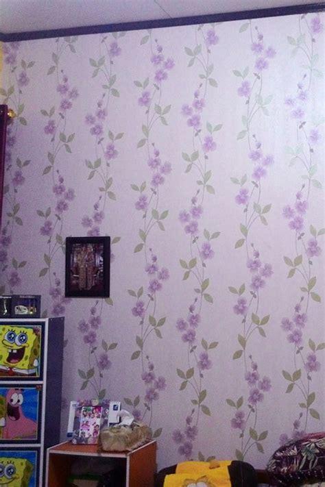 jual wallpaper dinding motif bunga harga murah gorden dekorasi