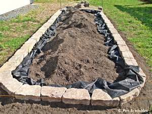 Landscape Fabric Flower Bed How To Build A Raised Garden Bed For Vegetables