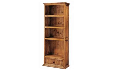 librero de madera para niños estante librero 1 cajon rustico